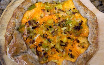 Sweet Potato and Leek Rustic Tart