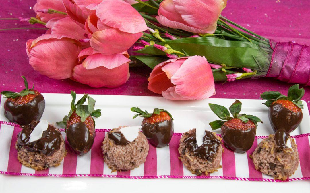 Chocolate Strawberry Macaroons