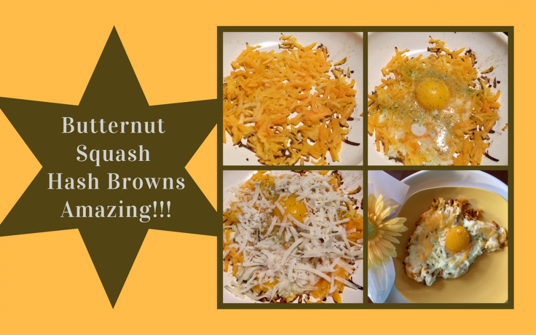 Grated Butternut Squash Hash Browns