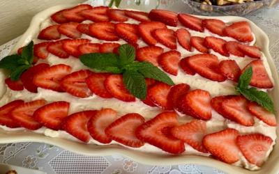 No Bake Strawberry-Lemon Layered Dessert